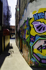 Back Alley Colour (LornaTaylor) Tags: lornataylor street streetphotography stjohns city alley taylorimagesca newfoundland abstract graffiti copyrightedlornataylor2012 lornataylorphotography
