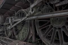 Loco wheels (Steven Dickson) Tags: uk railroad history metal train rust decay spokes wheels transport engineering railway loco steam dirt oil locomotive scrapyard dust cogs hdr steamtrain tanfield