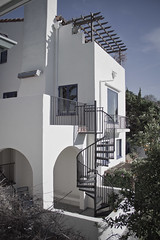 High Profile Addition (Mark Kerckaert) Tags: california windows white house tree architecture photography backyard balcony famous rich lifestyle hills patio southern staircase hollywood