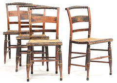 23. Set of Four American Hitchcock Style Chairs