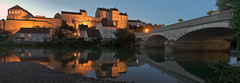 Pesmes (didier.bier) Tags: pesmes franchecomt panoramique pano panoramic microsoftice2 ice2 france hautesane eau reflet canon 80d 1740lusm night nuit nocturne water reflect plusbeauxvillagesdefrance citdecaractre