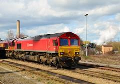 66097 and Tornado at Didcot 28th March 2016 (davids pix) Tags: 66097 schenker class66 diesel 60163 tornado preserved steam railway locomotive didcot musem 2016 28032016