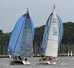 """Karma"" Dehler 36 SQ - ""Windhexe"" X-34 (winchman2010) Tags: sailing segeln regatta yachts boats kiel baltic ostsee welcomerace"