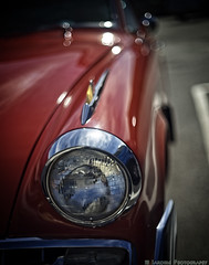 Right At You (mjardeen) Tags: konica 50mm 14 hexanon car auto konica50mm14hexanon sony a7ii a7m2 automobile historic classic studebaker headlight bokeh curve