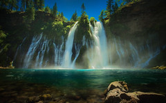 Burney Falls - Explored (PrevailingConditions) Tags: waterfall burneyfalls water blue trees forest landscape
