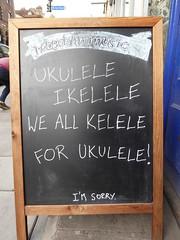 Ukulele, Ikelele, we all kelele for ukulele! (duncan) Tags: aboard hobgoblinmusic ukulele