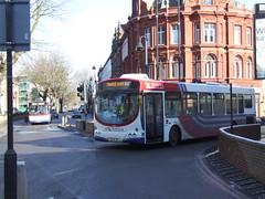 Changeover bus 2009 (Walsall1955) Tags: walsallbus wmt westmidlandstravel nxwm newm bus walsall changebus changeoverbus leicestersquare lichfieldstreet 1756 bx56xbz volvobus volvob7rle wrights