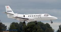 N168BG Cessna 560 Citation V (Anhedral) Tags: n168bg hbvoc cessna 560 citationv bizjet corporatejet bdfair landing shannonairport