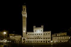 Midnight in Sienna (MitchellShapiroPhotography) Tags: night bw midnightinsienna sienna notte piazzadelcampo tower