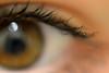 """""""Un regard est dans tout pays un langage."""" (capucine.parayre) Tags: regard oeil cils marron macro flou pupille"""