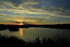 Sunset On Desert Oasis (Eleu Tabares) Tags: sunset sunrise lasvegas nevada desert sky clouds water oasis