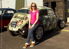 Leanne & her Volksrod (jonesy59) Tags: volksrod vw skulls model posing