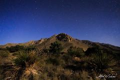 Hunter Peak By Moonlight (Alfred J. Lockwood Photography) Tags: alfredjlockwood nature landscape stars nightsky hunterpeak guadalupemountainsnationalpark guadalupemountains nationalpark spring texas yucca