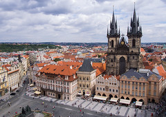 Old Town Square (Matthew Usher) Tags: prague praha czech republic europe travel olympus holiday explore cityscape tower church our lady architecture city