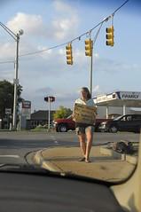 Anything helps (John Rothwell) Tags: panhandler female grand rapids michigan grandrapids city urban