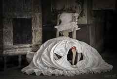 Left in time (TorErikP) Tags: vonechstedtskagaarden sweden vrmland sverige museum clothes chair old