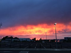 Burning Sky - Sunset in South Western Ireland - Coonagh Cross - Limerick (firehouse.ie) Tags: vivid theend chemtrail cloud skies evening dusk sundown haarp chemtrails clouds limerick ireland colours colors strange sky down set setting sun sunset