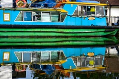 Rubbish Reflection (violetchicken977) Tags: neglect decay junk houseboat reflection ssyn grunge