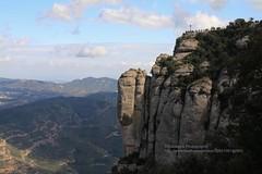 Montserrat, cliff (blauepics) Tags: spain spanien espaa katalonien catalunya catalua montserrat landscape landschaft berge mountain rocks felsen view aussicht monastery kloster wallfahrtsort pilgrimage cliff