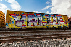 (o texano) Tags: houston texas graffiti trains freights bench benching wholecar value