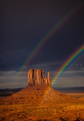 After the Storm (dezzouk) Tags: monumentvalley sunset doublerainbow eainbow mittens theview arizona