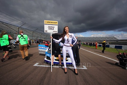 James Cole on the grid at Rockingham, August 2016