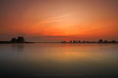 In the Morning (Mirek Pruchnicki) Tags: radymno województwopodkarpackie polska morninglight lake zek sunrise sky water sun sunlight landscape scenery