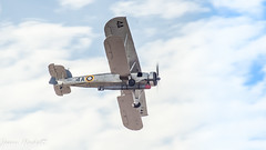 1936 Fairey Swoedfish (jason hackett) Tags: outdoor plane sky clouds blue wings ww2 propellers flying