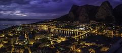Croatia - Omis, night time (net.furion) Tags: sony ilce a6000 carl zeiss sonnar 24mm sel24f18z croatia omis night sea lights 2418 za sonnar2418za