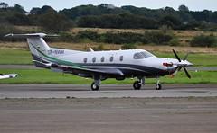 SP-NWN (goweravig) Tags: spnwm visiting aircraft pilatus pc12 swansea wales uk swanseaairport