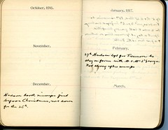 Diary of Robert Wallace p.66 (Community Archives of Belleville & Hastings County) Tags: 1880s 1890s 1900s 1910s 1920s diaries homechildren