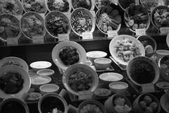 food sampling. (osullivan666) Tags: bw monochrome  osaka kansai   naniwa