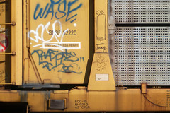LAMPS + STACKABONES (QsySue) Tags: railroad digital train lumix graffiti fb tag traintracks folklore panasonic lone traincar pointandshoot bone digitalcamera lamps orangecounty brotherhood railroadtracks dif railroadcar moniker stackabones digitalpointandshoot panasoniclumixdmczs8