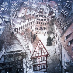 Something heart warming. (Sascha Unger) Tags: christmas schnee winter snow tree castle mobile germany weihnachten bayern bavaria phone nuremberg noel sascha romantic franken altstadt oldtown baum burg nrnberg tanne iphone fachwerk unger kaiserburg iphonography iphoneography saschaunger