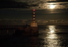 pier appearance (Ray Byrne) Tags: light sea night pier jetty northumberland handheld moonlight amble raybyrne byrneoutcouk webnorthcouk