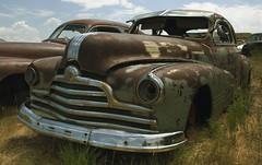 rusty pontiac (HOOVER14) Tags: canon eos rebel xt rusty 1940s era casper pontiac junkyard wyoming