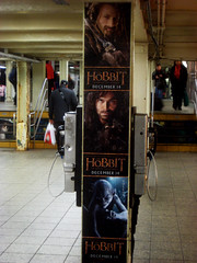42nd Street Hobbit - Subway Poster NYC 7277 (Brechtbug) Tags: street new york city nyc shadow film station fashion movie subway poster square ian one 1 martin ad entrance lord an billboard advertisement midtown part rings journey gandalf gollum cape times avenue creature hobbit 7th unexpected bilbo baggins freeman serial 42nd 2012 the mckellen standee tolkin 12122012