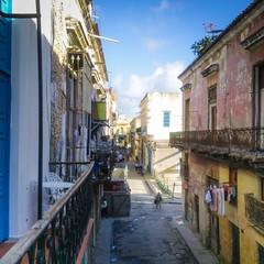 Old Havana, street viewed from the balcony (_Geoff R Baker) Tags: street building photography balcony havana cuba historical bloggie