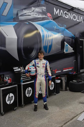 Tristan Vautier of France is testing an IZOD IndyCar Series car for the first time at Sebring