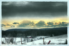 Snowscape with Sky