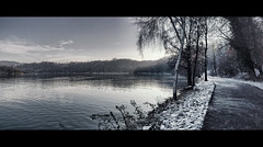 Winter in Essen (Germany) / Baldeneysee Panorama (Photofreaks) Tags: schnee winter snow essen district ruhr ruhrgebiet baldeneysee bestcapturesaoi elitegalleryaoi adengs wwwphotofreaksws shopphotofreaksws
