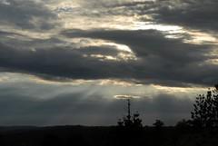 Deep Creek Road (dustaway) Tags: silhouette clouds landscape australia nsw sunrays storms cloudscape northernrivers australianweather australianstorms