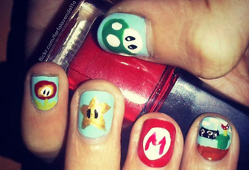 Uñas frikis - Super Mario Bros nails