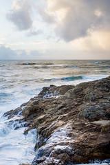 Neige, lait, yaourt ou mer? (SebastienToulouse) Tags: ocean mer france soleil eau ciel seb nuage vague vendee plage rocher ecume paysdelaloire chteaudolonne
