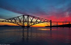 Forth Bridge sunrise (DWHonan) Tags: railroad bridge sunrise dawn scotland twilight track honeymoon south railway forth firth queensferry cantilever