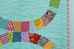 Single Girl Baby quilt (Blue is Bleu) Tags: moda kona scrappy denyseschmidt singlegirlquilt