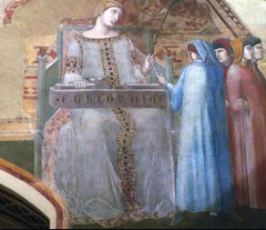 Detail of Concordia from Ambrogio Lorenzetti's Allegory of Good Government