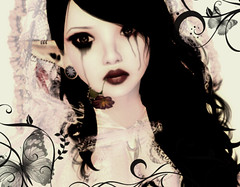 Ayanechi2012 (Aic W (Fifty Shades of Free)) Tags: life red hair long guitar avatar horns multicoloured lips retro curly fantasy blonde demon second hood oriental multicolor faun