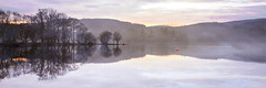 Tranquil Colours (mcrossco) Tags: panorama mist reflection water misty sunrise landscape dawn scotland still scenery colours scenic scottish tranquility panoramic calm loch stillness trossachs tranquil daybreak lochard