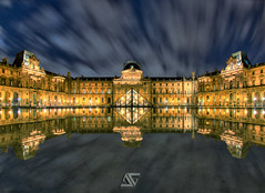 Louvre (A.G. Photographe) Tags: paris france reflection french nikon europe louvre fisheye ag capitale nikkor 16mm reflexion pyramide parisian anto d800 xiii parisien antoxiii agphotographe